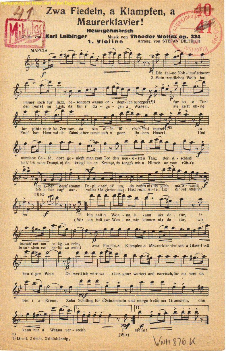 Scan Noten Violine 1
